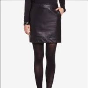 Skirt faux leather black